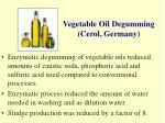 vegetable oil degumming cerol germany