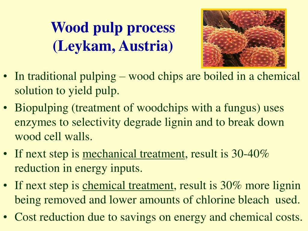 Wood pulp process