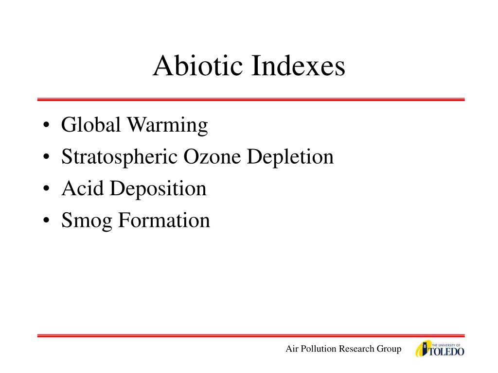 Abiotic Indexes