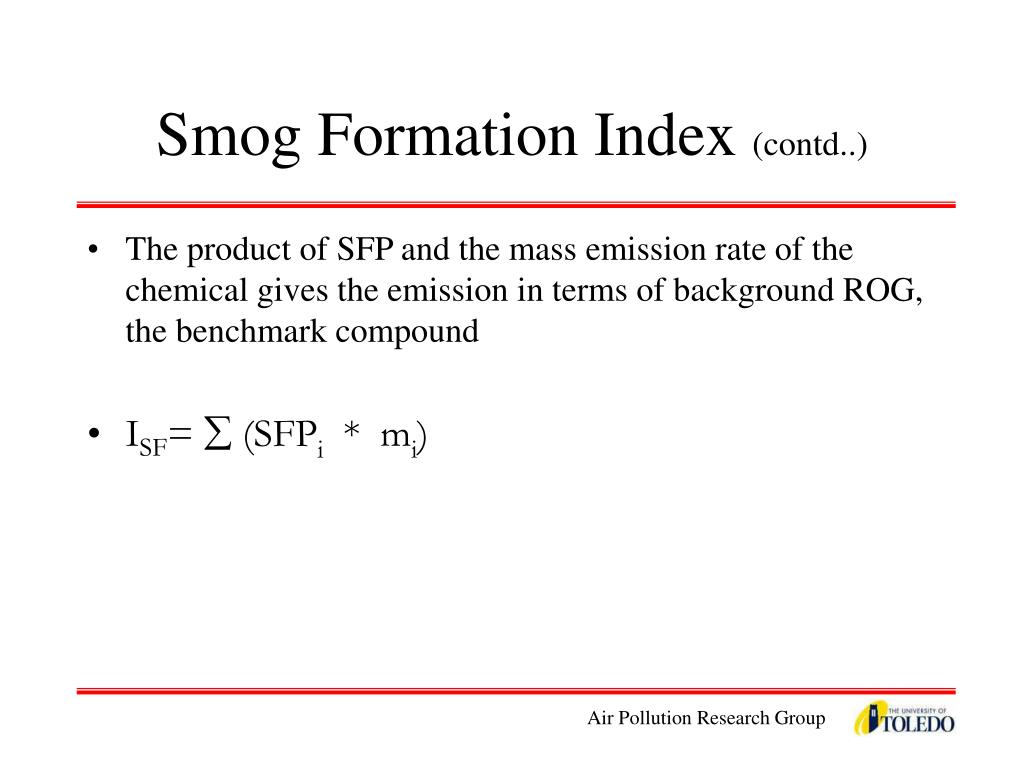 Smog Formation Index