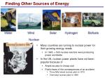 finding other sources of energy