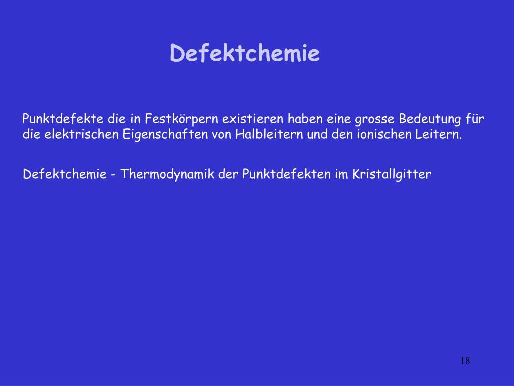 Defektchemie