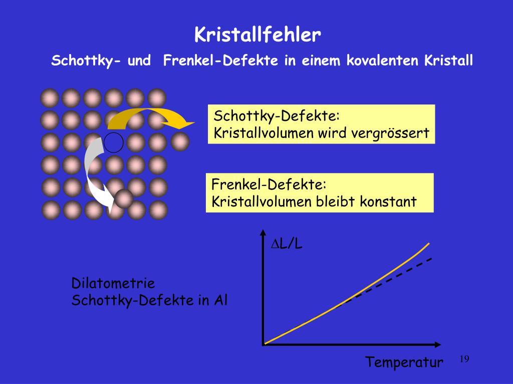 Schottky-Defekte:
