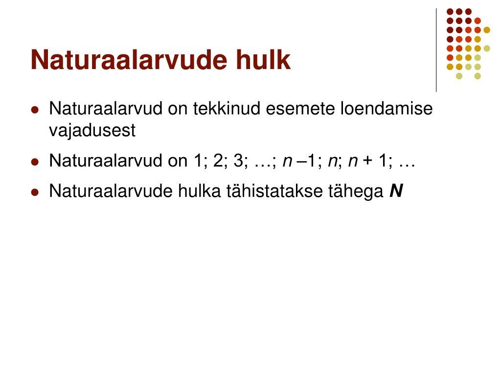 Naturaalarvude hulk