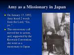 amy as a missionary in japan