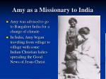 amy as a missionary to india