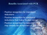 benefits associated with pcr