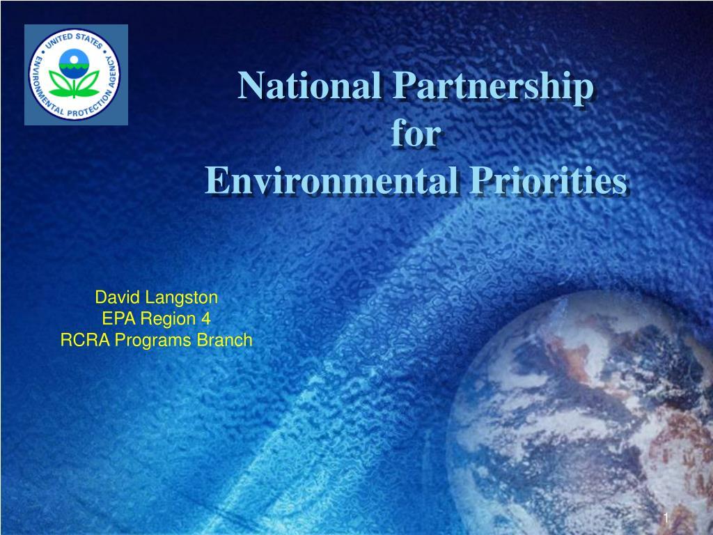 national partnership for environmental priorities l.