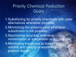 priority chemical reduction goals