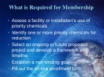 what is required for membership