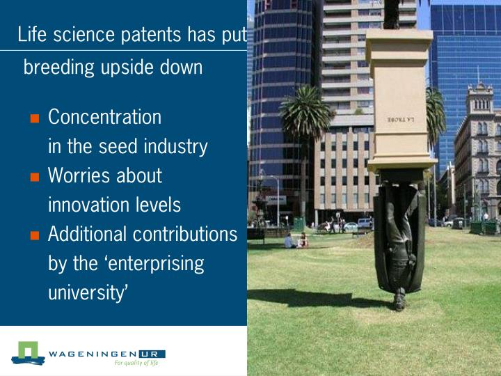 Life science patents has put