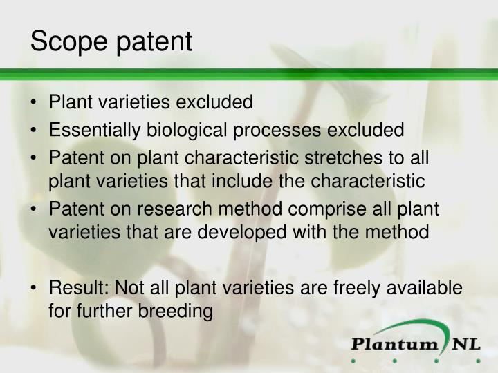 Scope patent