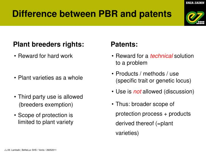 Plant breeders rights: