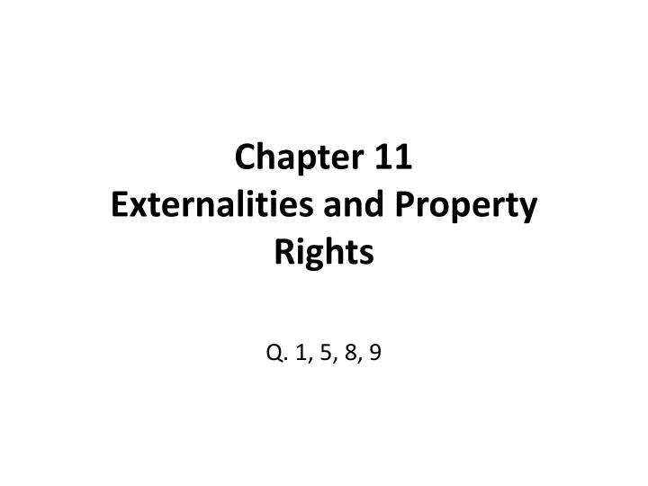 chapter 11 externalities and property rights n.