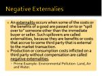 negative externalies