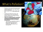 what is pollution