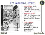 pre modern history