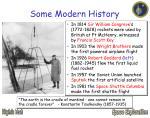 some modern history
