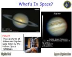 what s in space