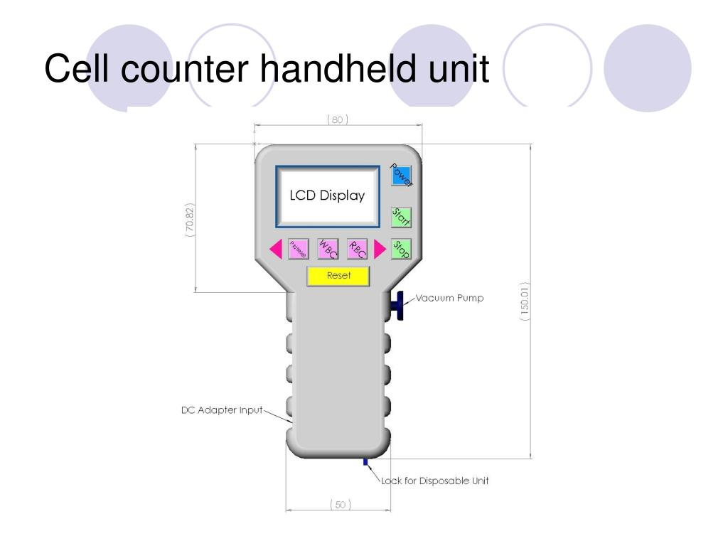 Cell counter handheld unit