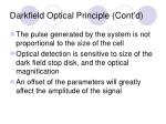 darkfield optical principle cont d16
