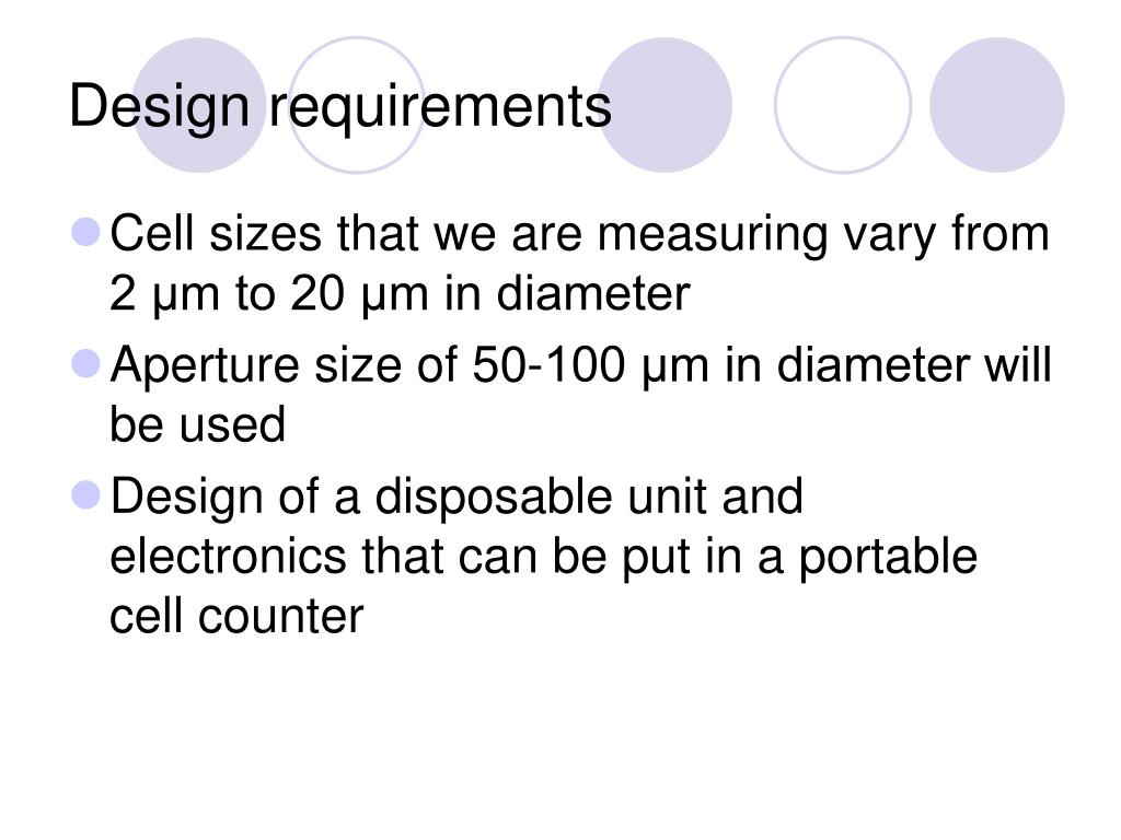 Design requirements