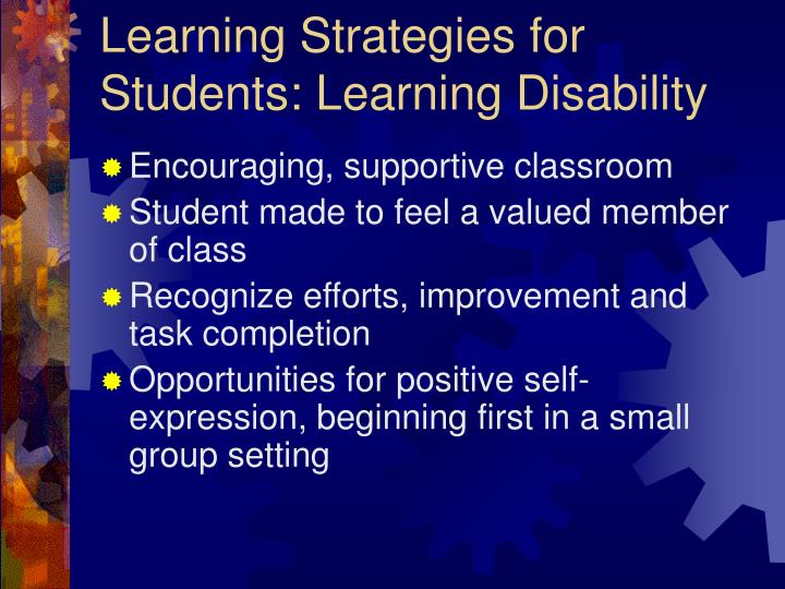 learning strategies for students learning disability n.