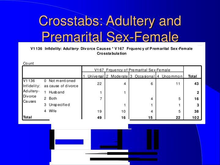 premarital sex causes