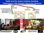calit2 and the venter institute combine telepresence with remote interactive analysis