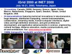 igrid 2000 at inet 2000 july 18 21 2000 yokohama japan