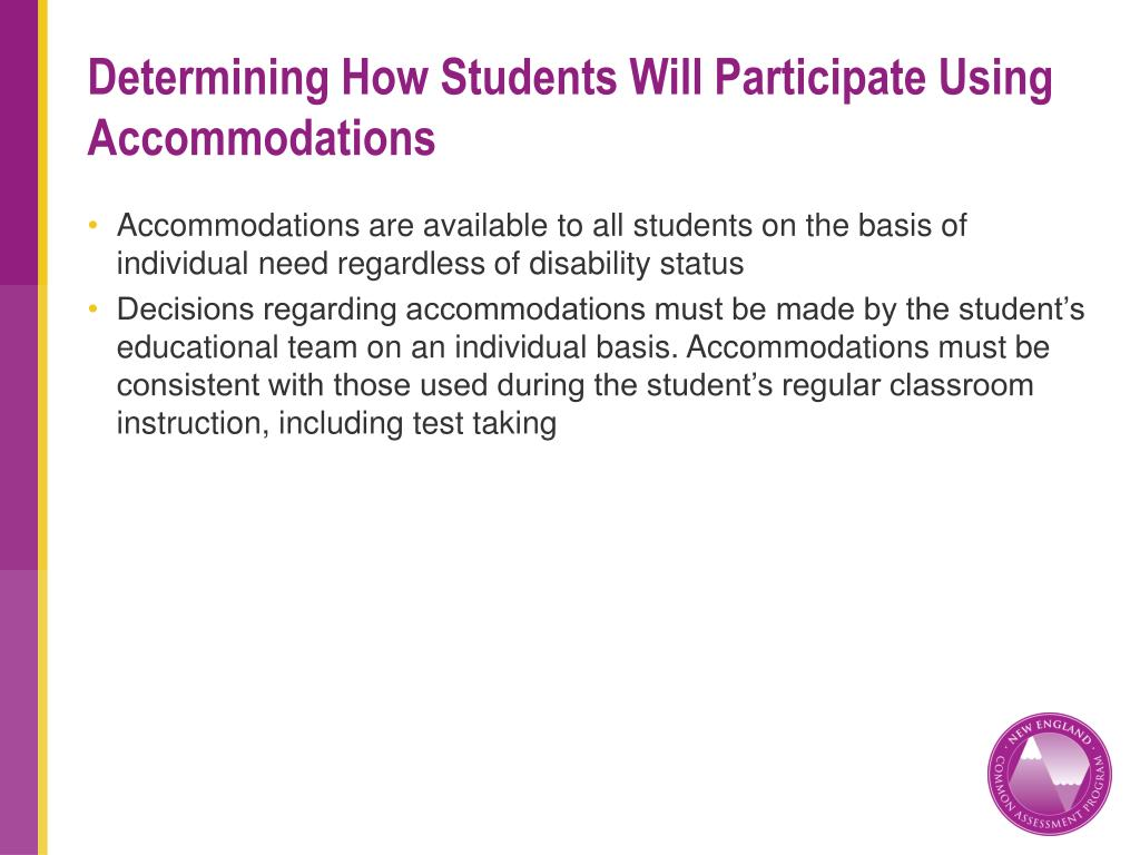 Determining How Students Will Participate Using Accommodations