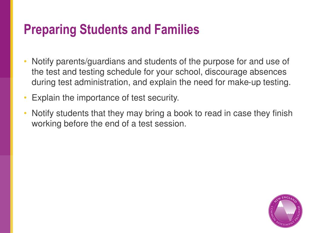 Preparing Students and Families