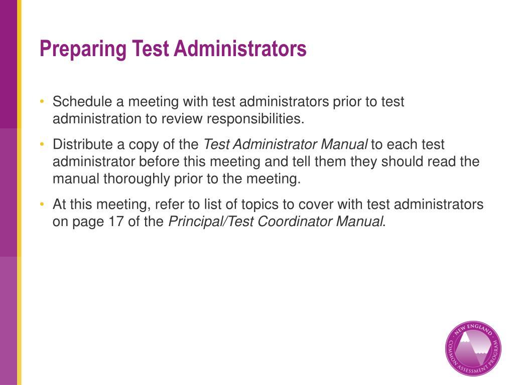 Preparing Test Administrators
