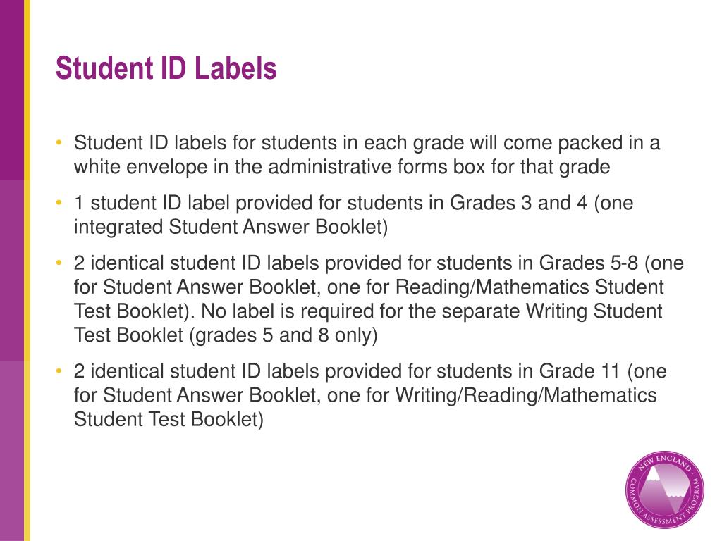 Student ID Labels