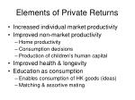 elements of private returns