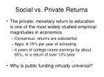 social vs private returns