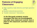 features of engaging classrooms