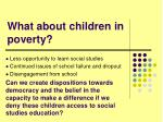 what about children in poverty