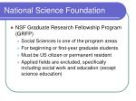 national science foundation10