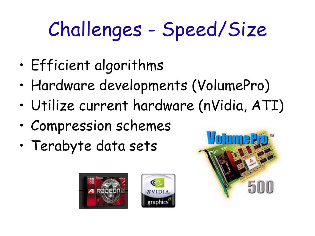 Challenges - Speed/Size