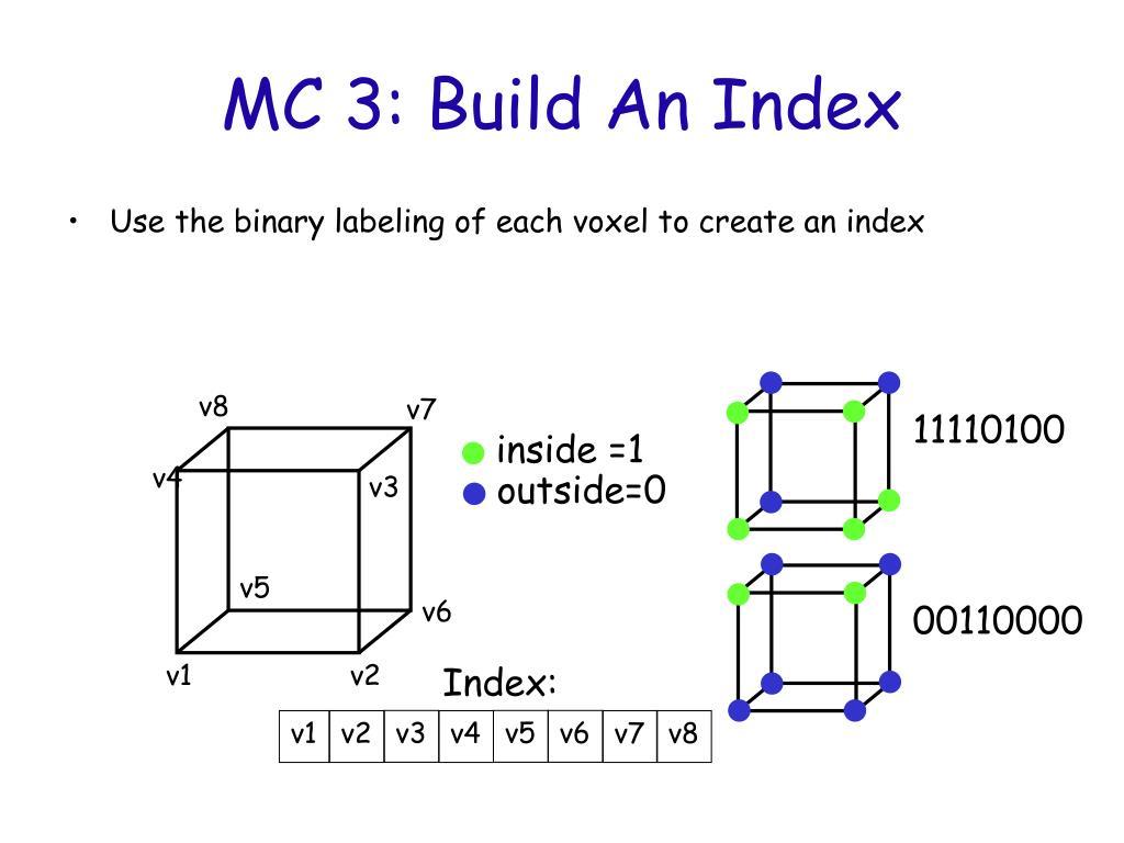 MC 3: Build An Index