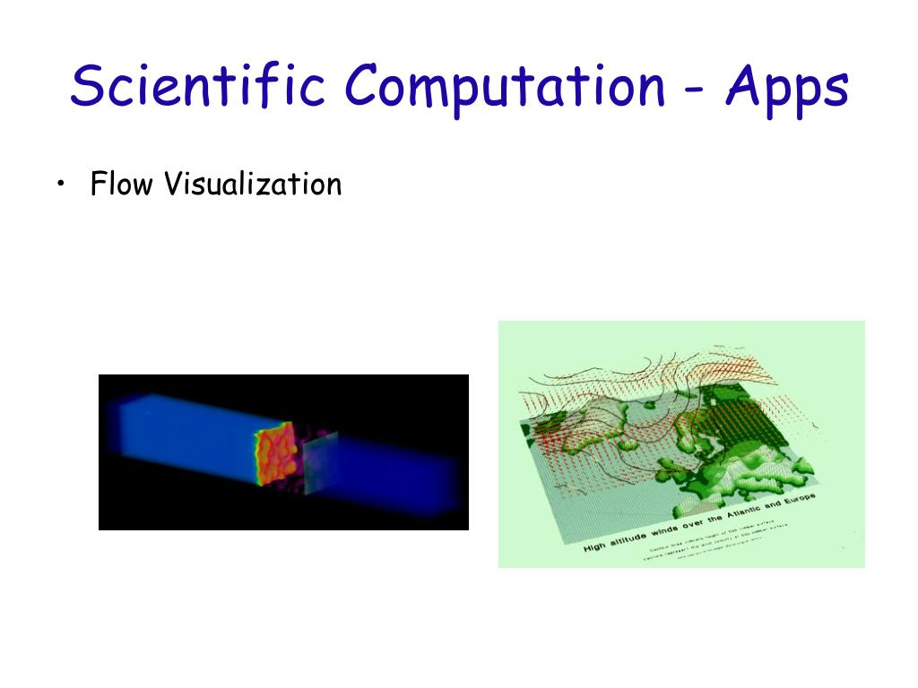 Scientific Computation - Apps