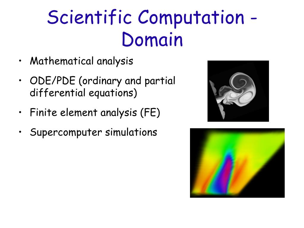 Scientific Computation - Domain