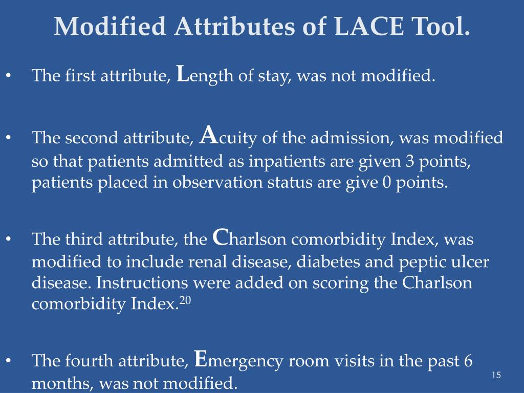 Modified Attributes of LACE Tool.