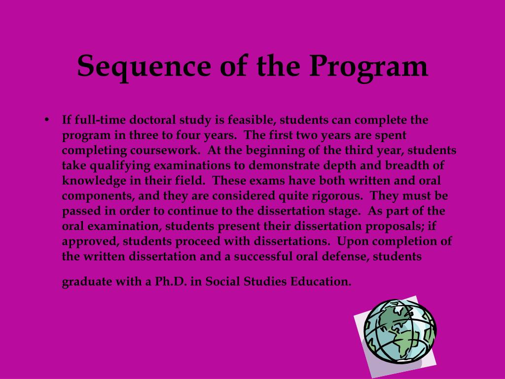 Sequence of the Program