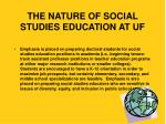 the nature of social studies education at uf