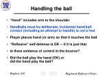 handling the ball