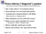 three referee diagonal system