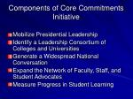 components of core commitments initiative
