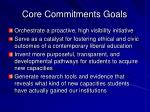 core commitments goals